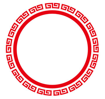 Chinese style round frame