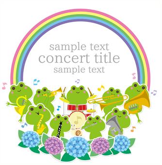 梅雨シーズンの吹奏楽コンサートフレーム