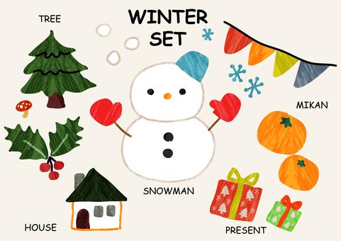 Winter set texture
