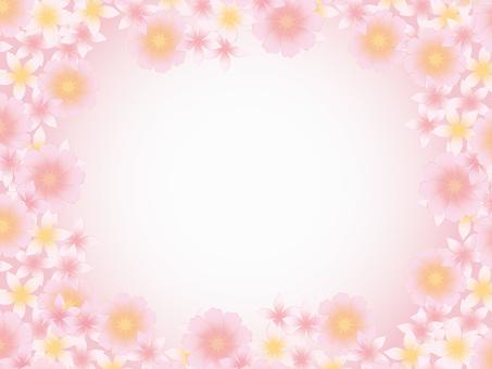 Spring frame background