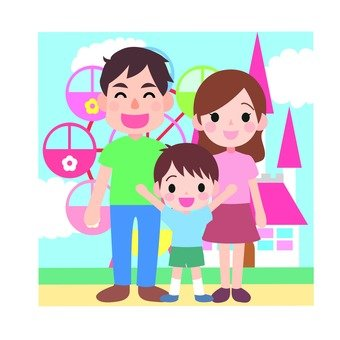 Amusement park family icon