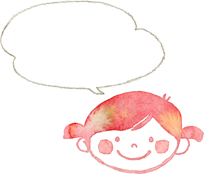 Girl with pencil speech bubble