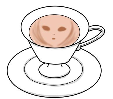 Alien Latte Art