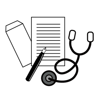 Image of medical certificate / letter of introduction