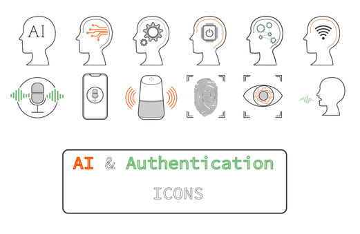 Icon set [AI & authentication_color]