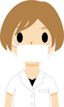 Female masked 5 (doctor)