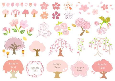Hand-painted cherry blossoms 1