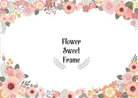 Flower decoration frame 2
