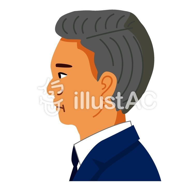男性の横顔イラスト No 1424007無料イラストならイラストac