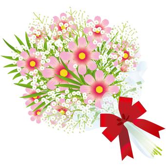 Cosmos & flower bouquet of grazing grass 17