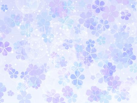 벚꽃 배경 파랑