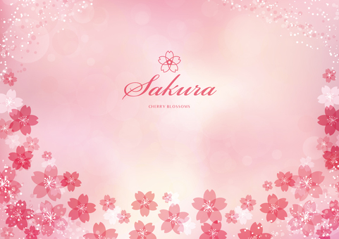 Spring background frame 002 Sakura pink