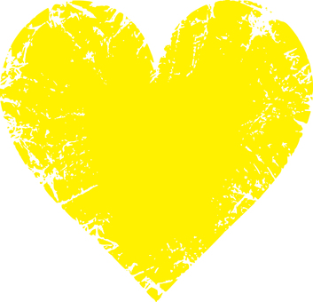 Heart _ scratch _ yellow