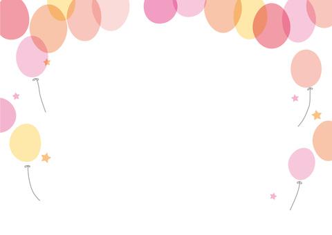 Balloon frame pink