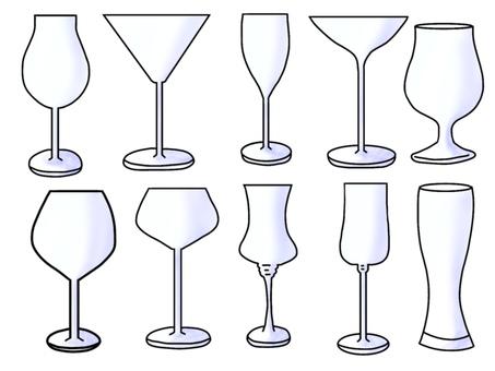 Wine glass (with shadow)