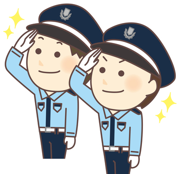 Police officer male 2 (salute)