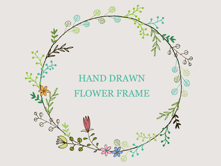Handwritten flower frame 4