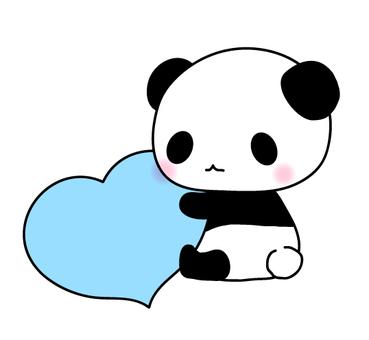 Polpetta cuore Panda (blu)