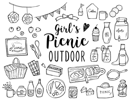 Girls picnic handwriting