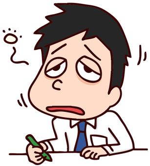 Illustration of lack of sleep