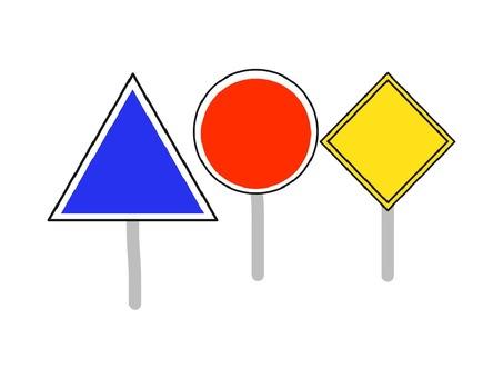 Traffic signs like wind frame set
