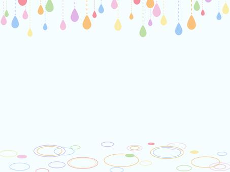 雨粒のフレーム4