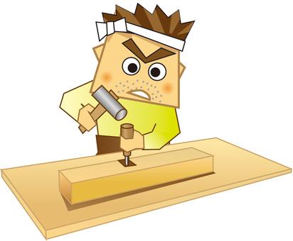 Sophisticated carpentry skillful skill - fleas