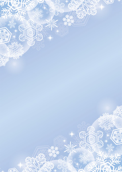 Christmas snow background blue lick vertical position