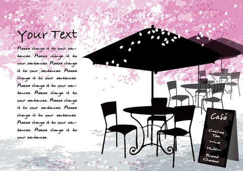 Spring cafe 2 Message card