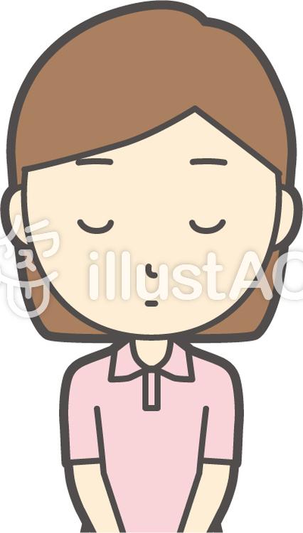 半袖ポロシャツ女性-036-バストのイラスト