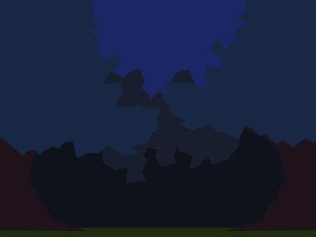Midnight forest vector wallpaper