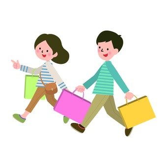Shopping at a couple