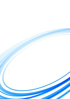 Simple curve background blue