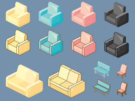 Simple chair parts_ overhead view