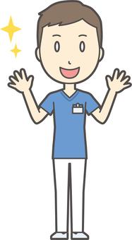 Nurse scrub male - 105 - whole body