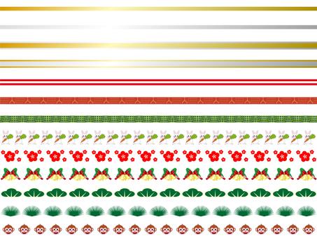 Line Set _ New Year & Christmas / Line