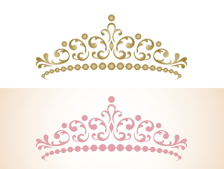 Tiara Gold and Pink