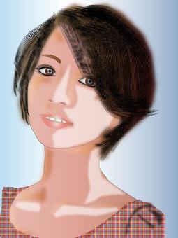 Short hair woman 02
