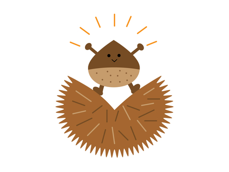 Illustration of chestnut