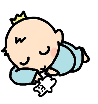 Sleeping baby prince
