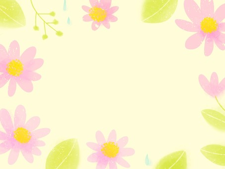 Flower and rain frame 2