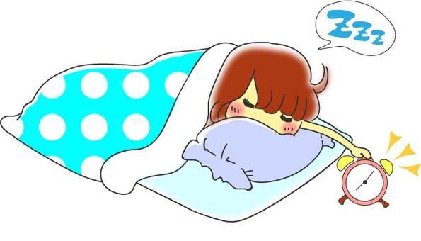Oversleeping girl