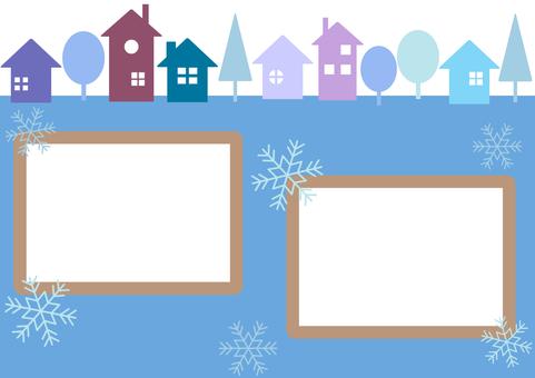 Winter Town Frame