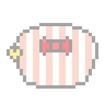 Pink ribbon pouch