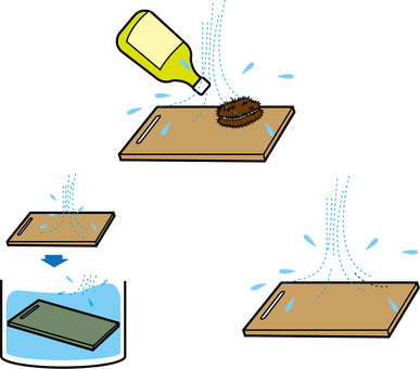 How to wash the cutting board