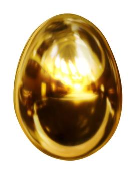 3DCG golden egg