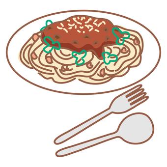 spaghetti meatsauce)