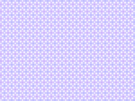 Check and small flower pattern (lavender)