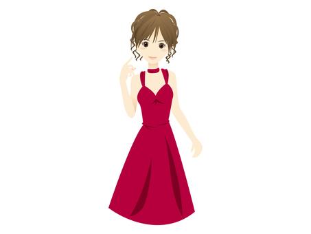 E098_ Woman in dress