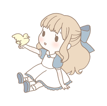 With birds